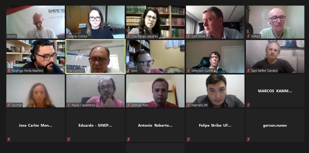 Reunião de negociação da comissão da educação superior, em 23 de março