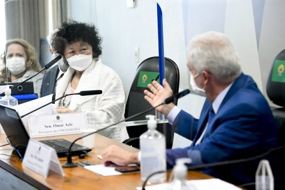 Nise Yamaguchi irrita senadores ao depor na CPI da Covid-19 | Foto: Jefferson Rudy/Agência Senado