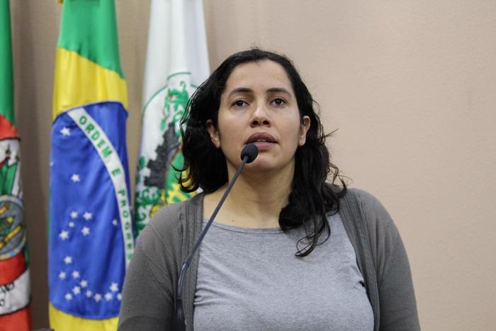 A vereadora Denise Pessôa, de Caxias do Sul
