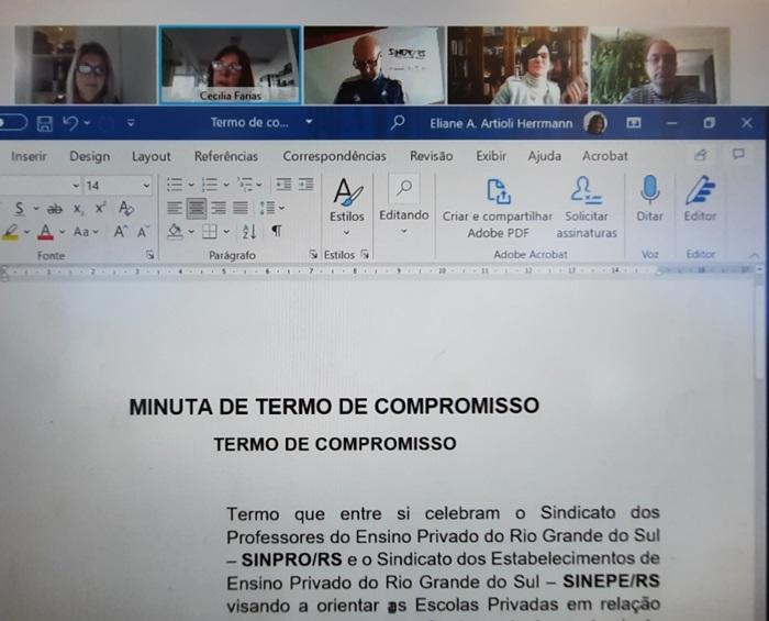 Compromisso foi firmado em sessão de mediação virtual do Cejusc-POA
