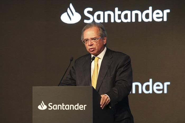 A serviço de quem? O ministro da Economia, Paulo Guedes, palestra na 20° Conferência Anual Santander em São Paulo