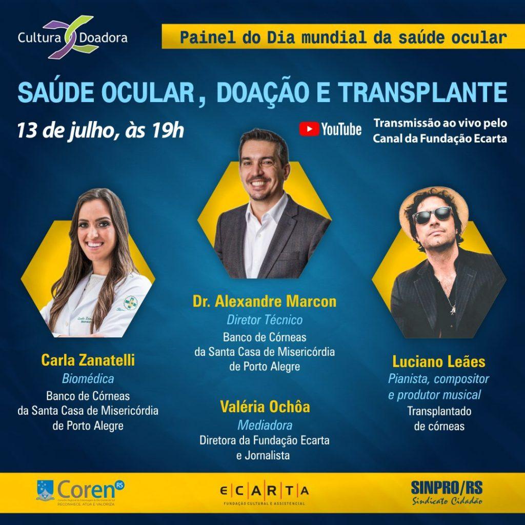Saúde ocular, doação e transplante de córnea