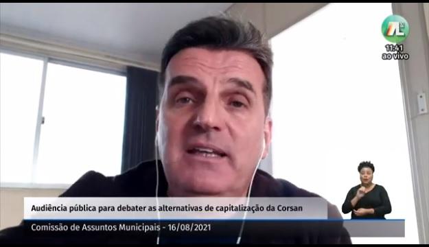 Eduardo Carvalho, da Associação de Engenheiros da Corsan
