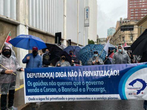 Assim como nas manifestações anteriores, a manifestação será em frente à empresa e caminhada até a Assembleia Legislativa
