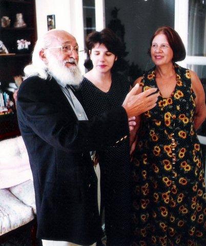 Paulo Freire, Lilian Contreiras e Nita Freire, em setembro de 1995