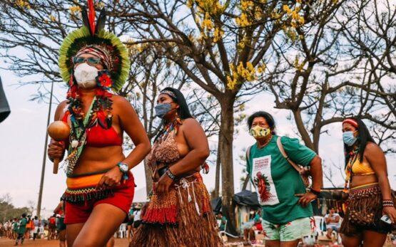 Mobilização contra marco temporal denuncia violência de gênero nos territórios indígenas | Foto: Raissa Azeredo/ Divulgação